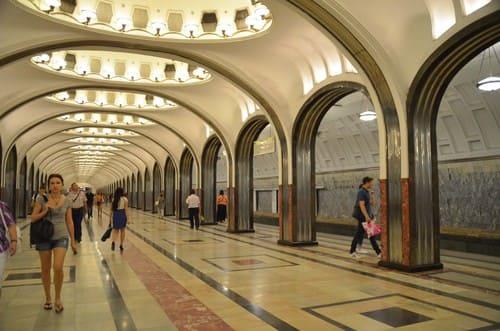Visite métro Moscou