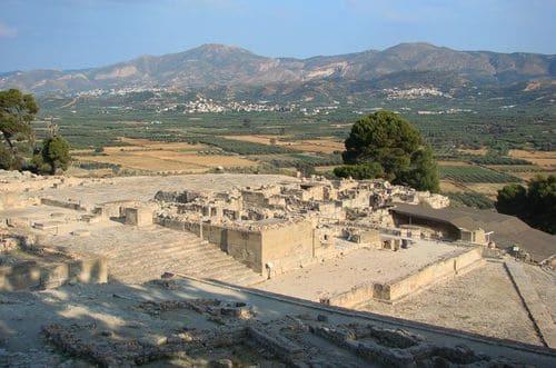 Visite site archéologique en Crète