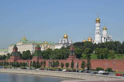 Kremlin de l'autre côté de la rive