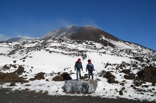 Etna avec de la neige