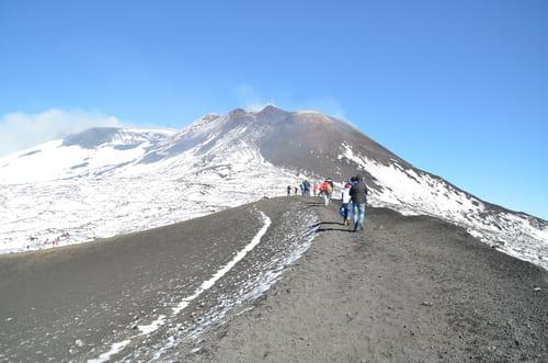 Marcher sur l'Etna