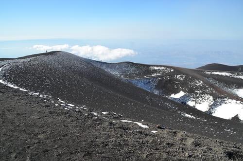 vue au sommet de l'Etna