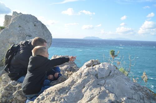 Vue sur le Stromboli depuis Milazzo