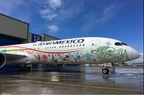 avion aeromexico mexique