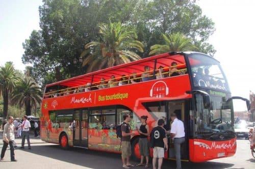 Bus touristique visite Marrakech