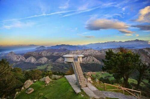 Vue sur les montagnes depuis mirador Del Fitu