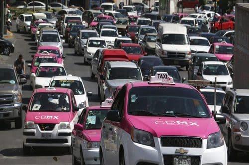 taxi rose Mexique