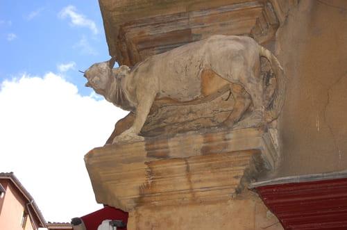 statue animal vieux Lyon