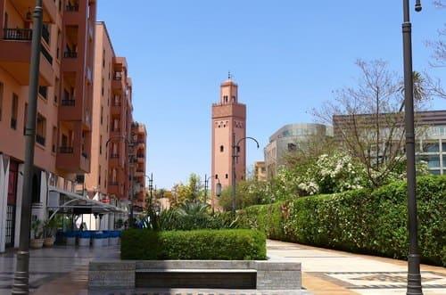 Gueliz quartier de Marrakech