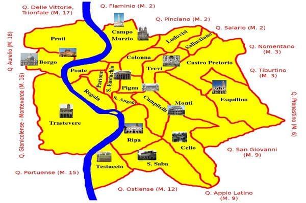 Les quartiers pour se loger à Rome