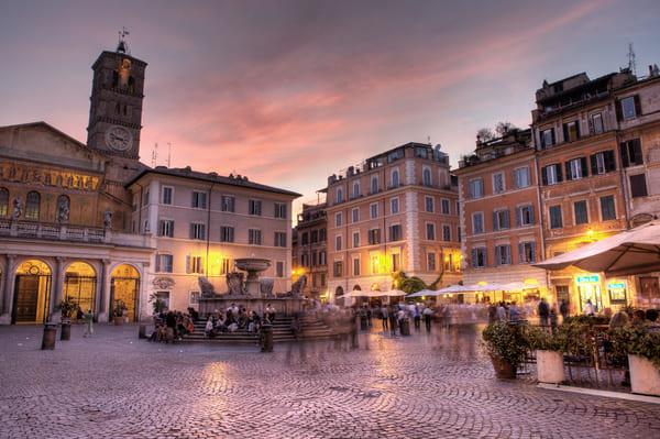 Le quartier de Trastevere Rome