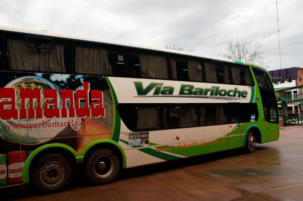 Départ des bus pour Iguazu