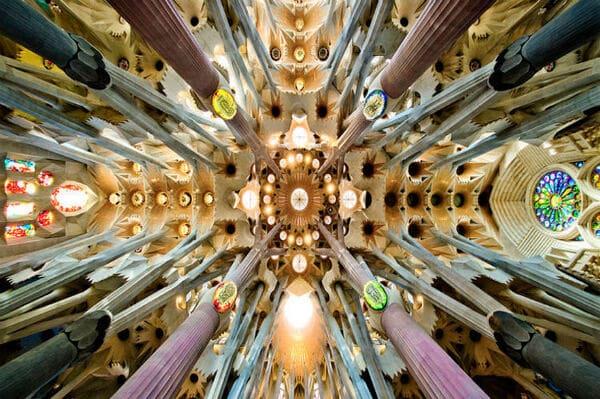 vitraux intérieur Sagrada Familia