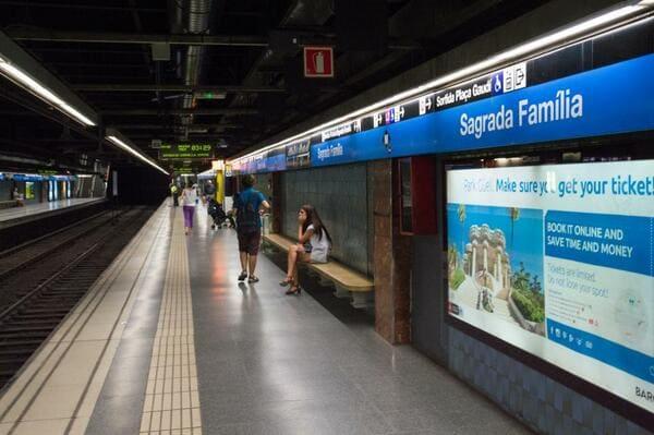 Station de métro Sagrada Familia