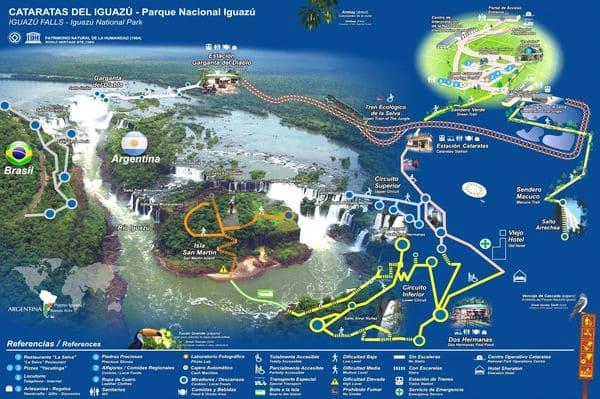parc Iguazu plan