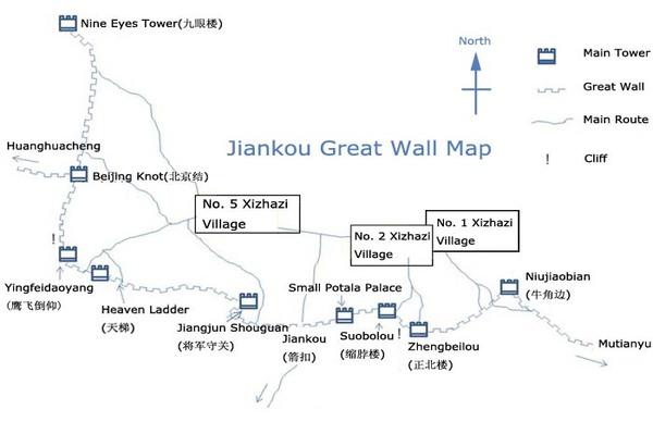 carte de Jiankou visite