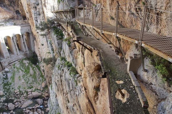 Caminito del Rey avant restauration