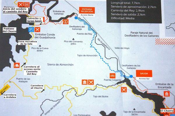 carte randonnée Andalousie