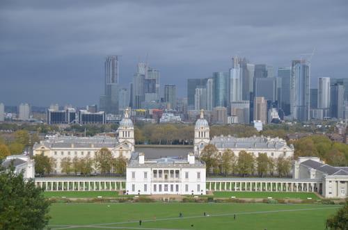vue au loin de Londres