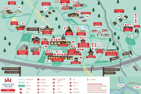 carte du village du père noel