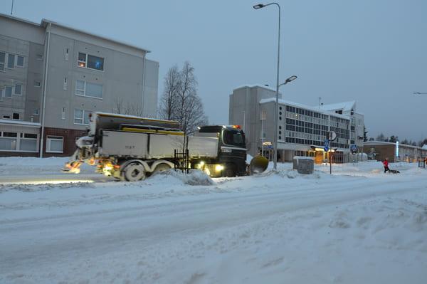 route enneigée Rovaniemi