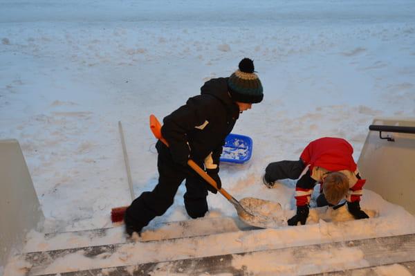 Protection froid pour enfant en hiver