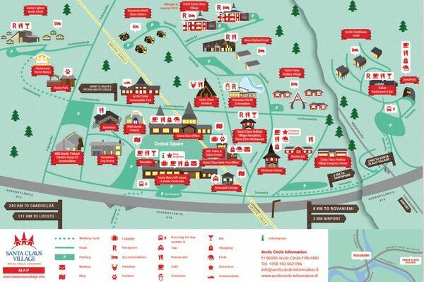Carte du village du Père Noël Rovaniemi