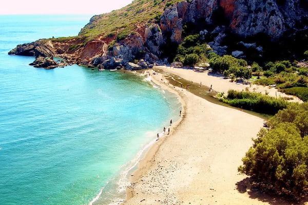 sable et plage de Preveli