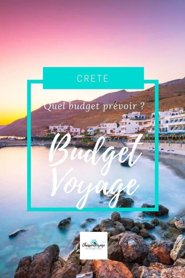 Quel budget voyage prévoir en Crète