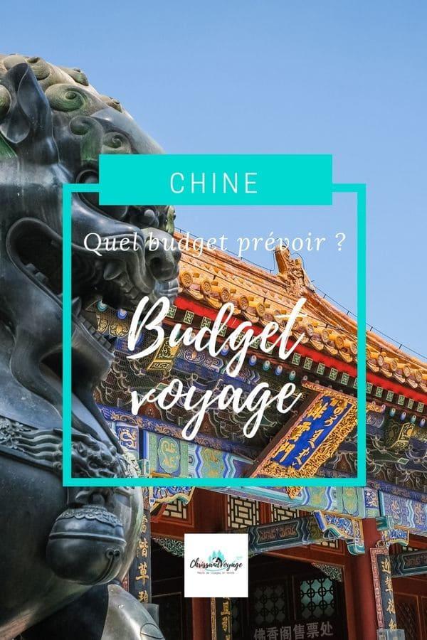 Quel budget voyage prévoir pour la Chine ?