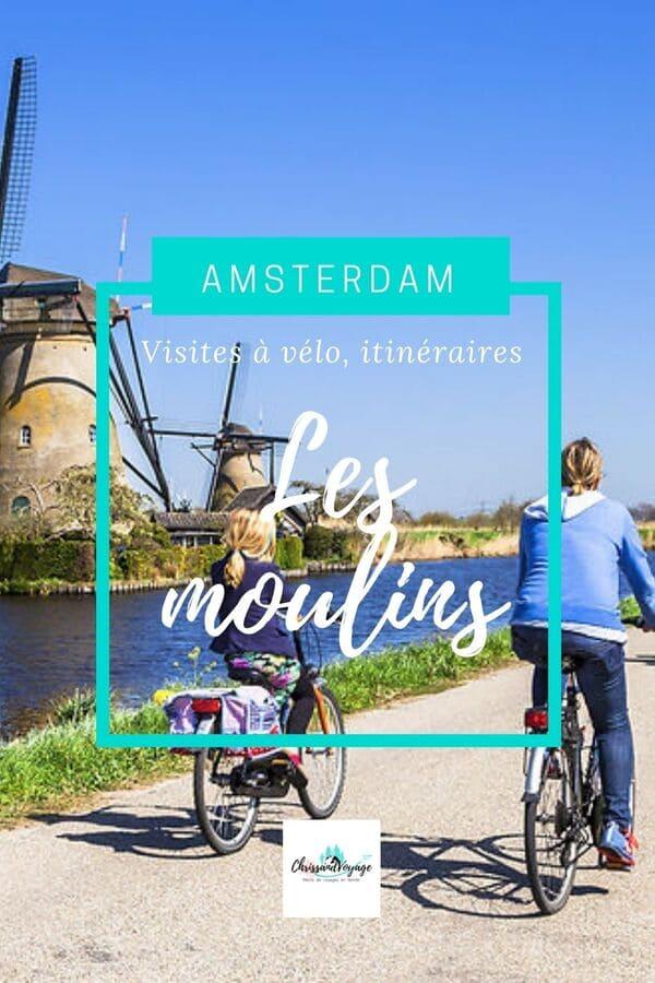 Visite moulins Amsterdam à vélo