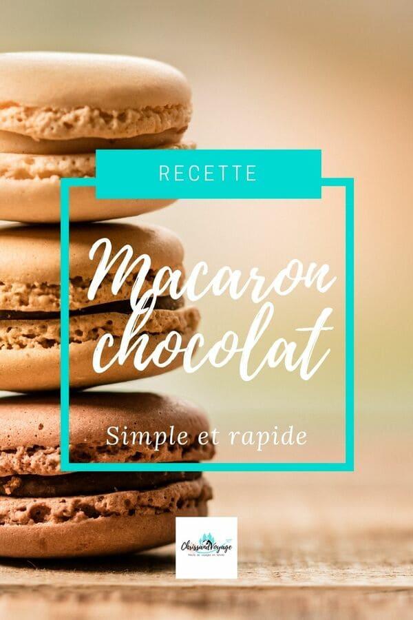 Recette simple des macarons au chocolat.