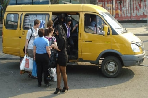Mini bus Russie jaune