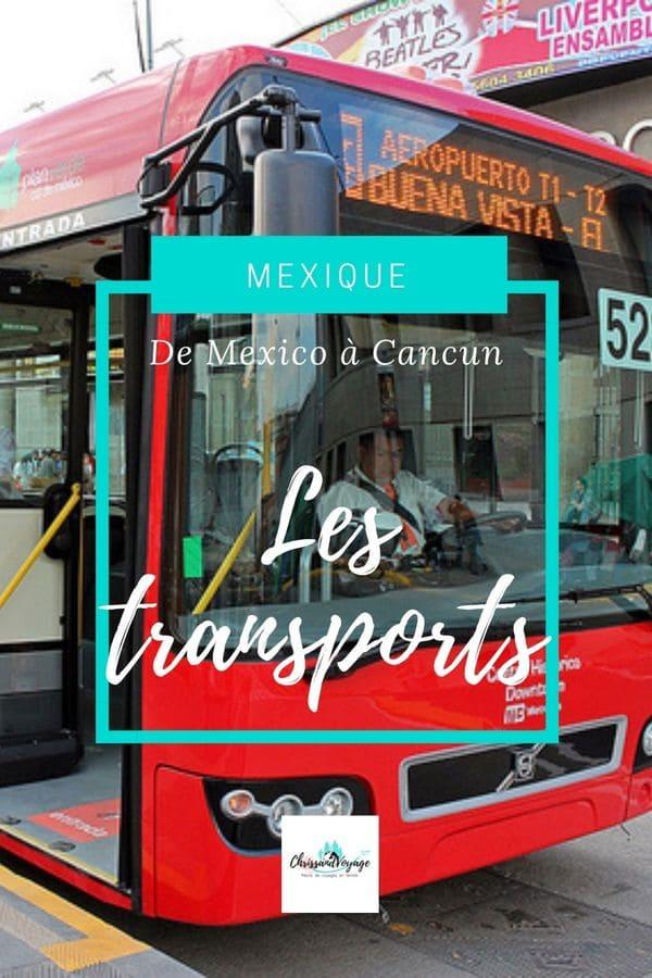 Prendre les bus au Mexique pour se déplacer.