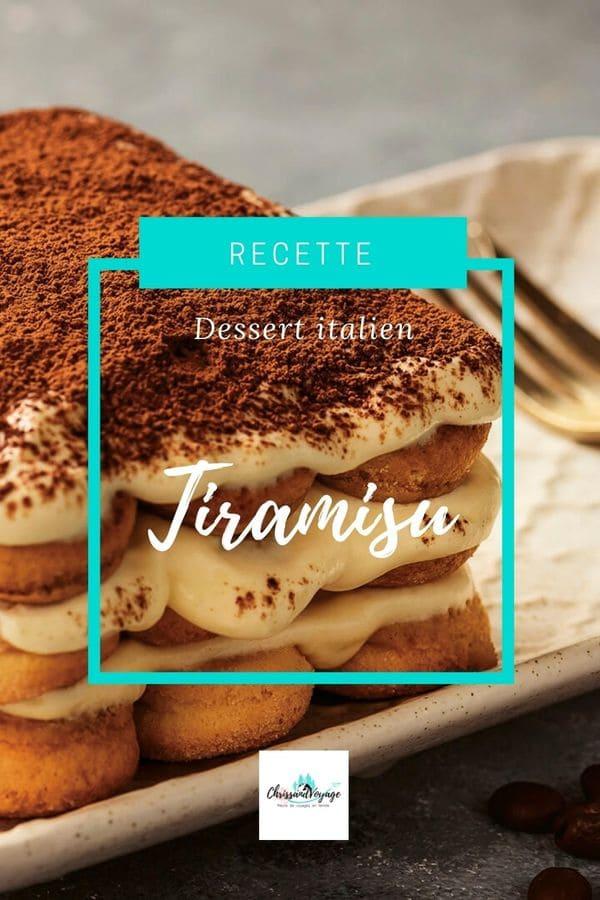 Recette Tiramisu italien