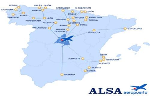 Bus ALSA Asturies lignes