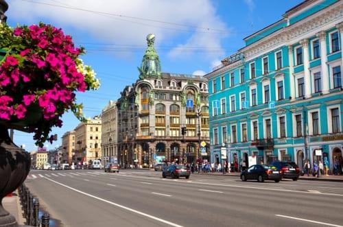 Grande avenue Saint Pétersbourg Nevski
