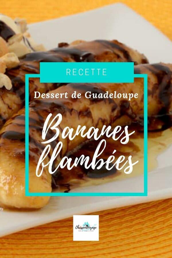 Recette des bananes flambées de Guadeloupe