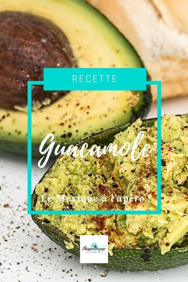 Recette de Guacamole du Mexique.
