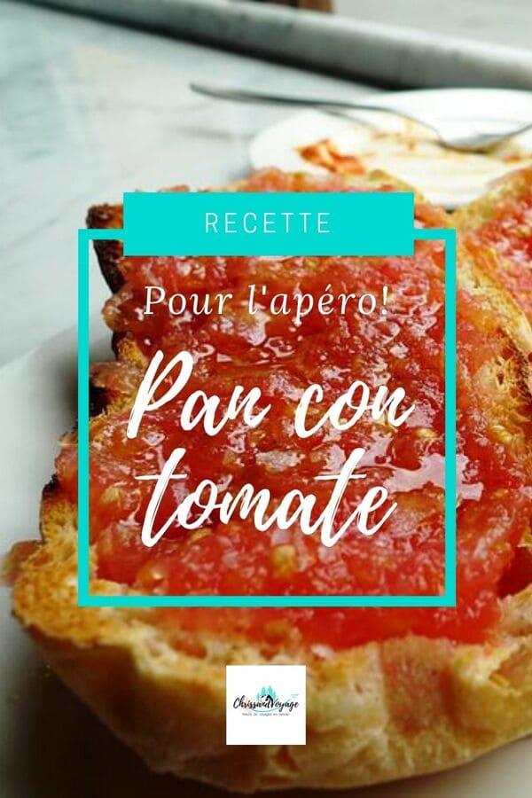 """Recette de l'apéritif espagnol, le """"pan con tomate"""""""
