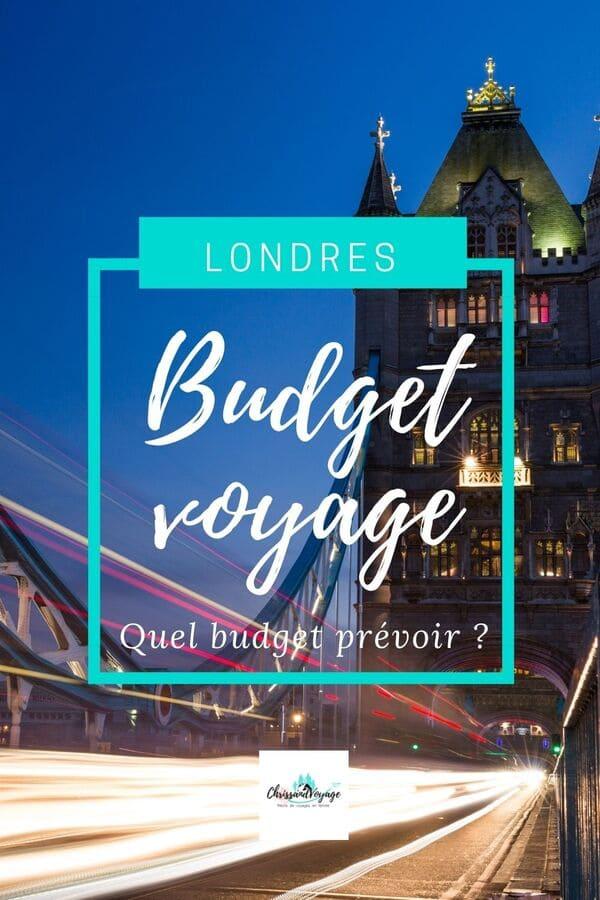 Budget à prévoir pour un voyage à Londres