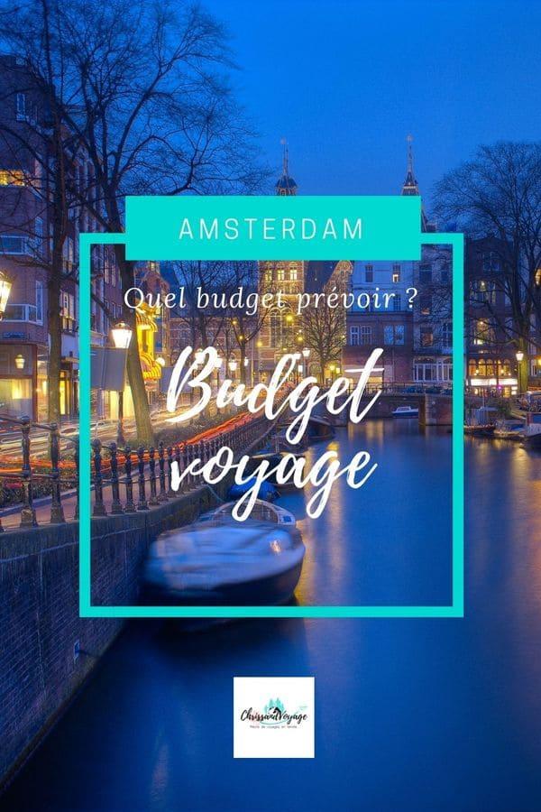 Budget voyage à Amsterdam