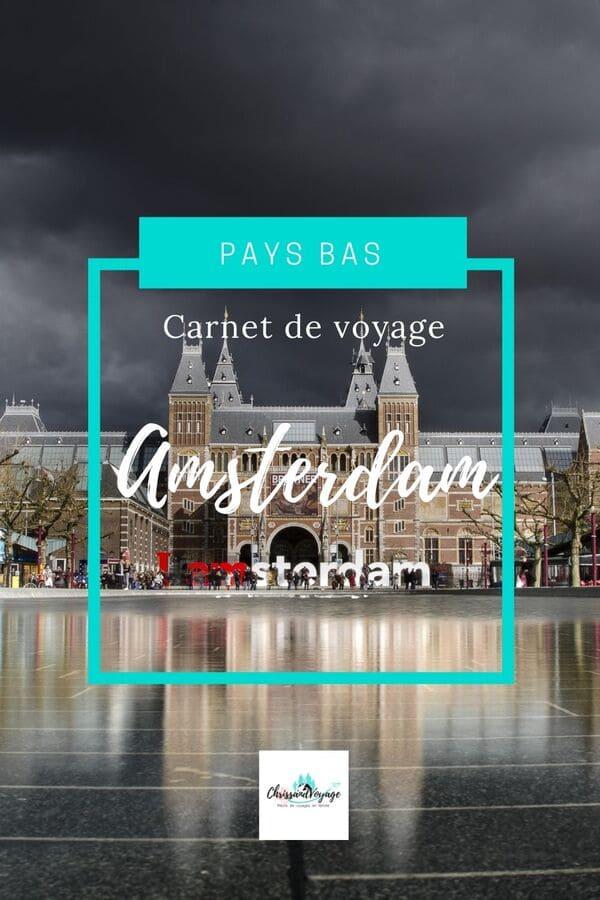 carnet voyage Amsterdam
