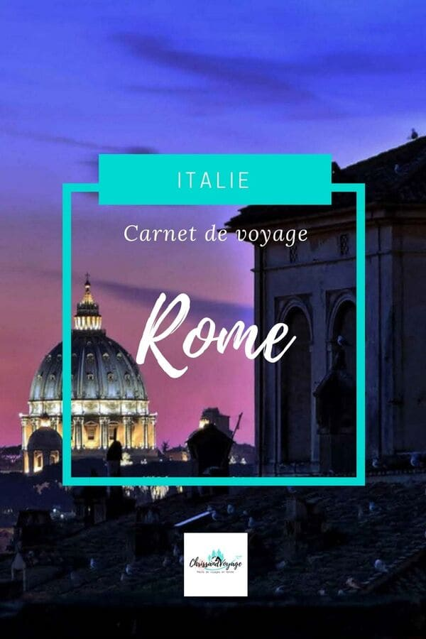 Carnet voyage Rome blog