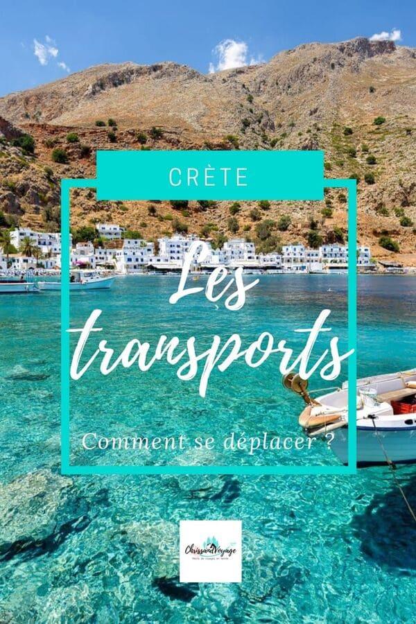 Comment se déplacer en Crète