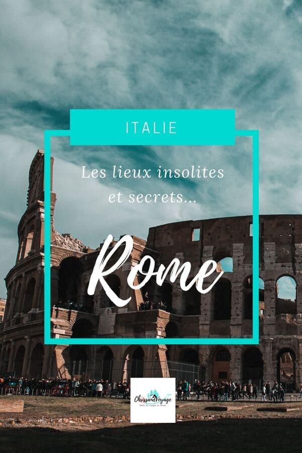 lieux insolites et cachés rome