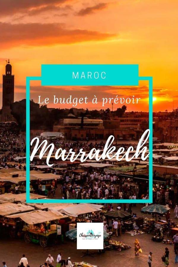 Budget pour voyager à Marrakech