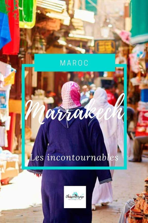 lieux incontournables à visiter à Marrakech