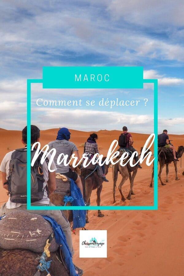 Comment se déplacer à Marrakech ?