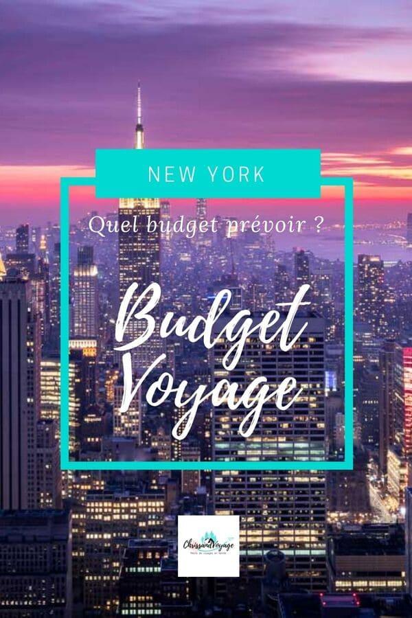 budget voyage à New York